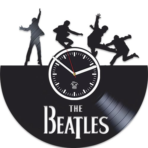 The Beatles Vinyl Wall Clock, Wall Sticker, Rock Music Band, Handmade Best Gift for Musician, Vinyl Record, Birthday Gift, Silent, Kovides, Paul Mccartney John Lennon, Valentines Day Gift For Sale