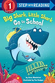 Book Cover: Big Shark, Little Shark Go to School