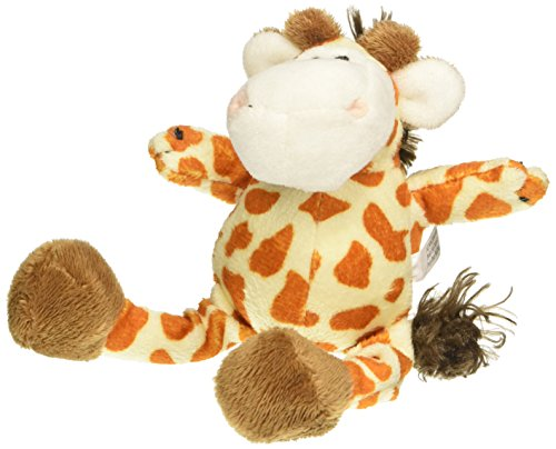 Patchwork Pet Mini Wild Giraffe 6-Inch Squeak Toy for Dogs on Cardstock