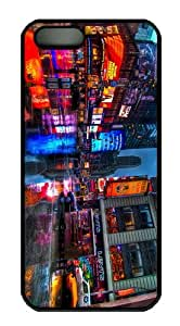 cases Cheap price Time Square New York PC Black Case for iphone 5/5S