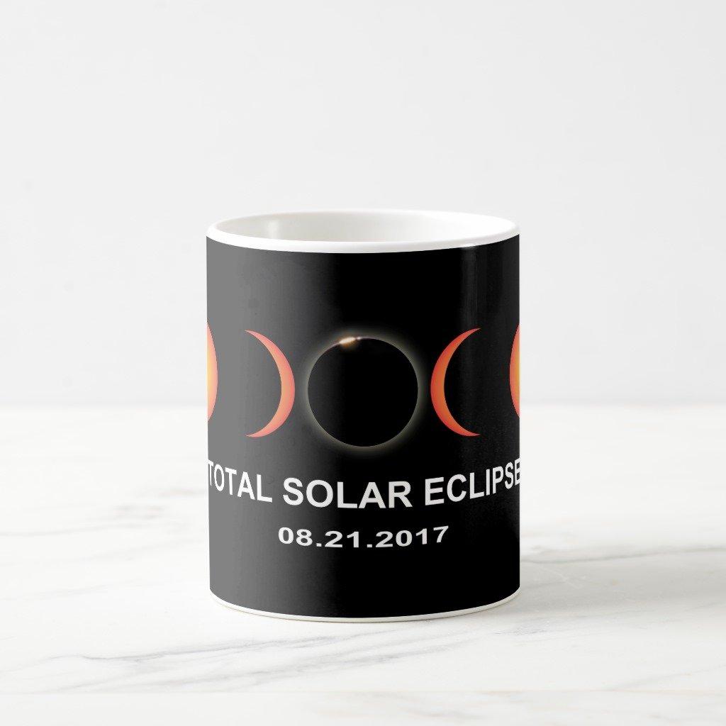 Zazzle Total Solar Eclipse 2017 Two-tone Coffee Mug, White Classic Mug 11 oz