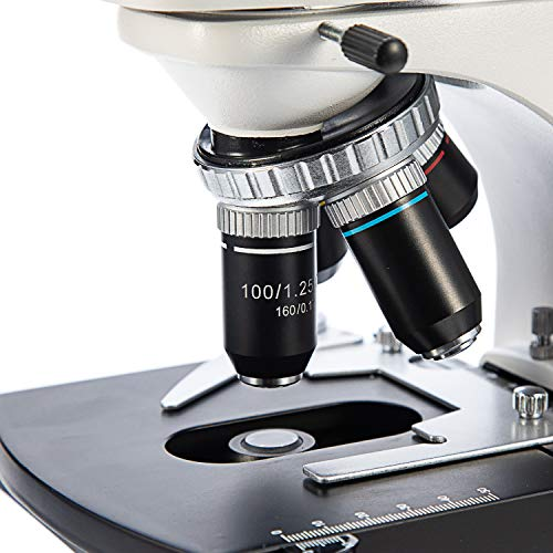 Swift SW380B 40X-2500X Magnification, Siedentopf Head, Research-Grade Binocular Compound Lab Microscope with Wide-Field 10X and 25X Eyepieces, Mechanical Stage, Abbe Condenser, Ultra-Precise Focusing by SWIFT (Image #6)