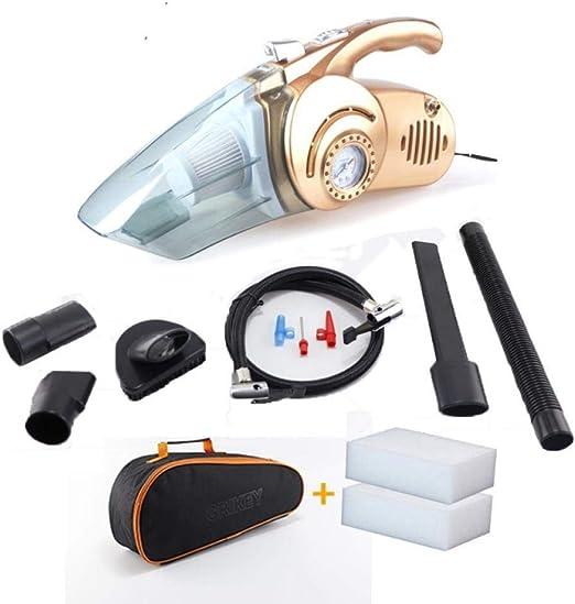 Asbjxny Aspirador 4 en 1 Bomba de inflado de neumáticos Coche Aspirador portátil de Gran Alcance Medición de presión de 12 V con iluminación LED@champán: Amazon.es: Hogar