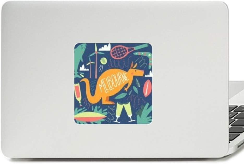 Melbourne Australia Kangaroo Tennis Surfing Decal Vinyl Paster Laptop Sticker PC Decoration