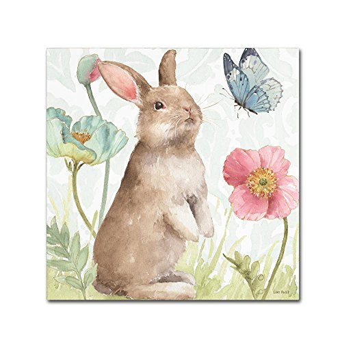 Spring Softies Bunnies II by Lisa Audit, 24x24-Inch Canvas Wall Art