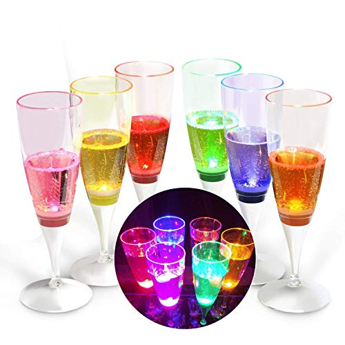 Led Light Champagne Glasses in US - 9