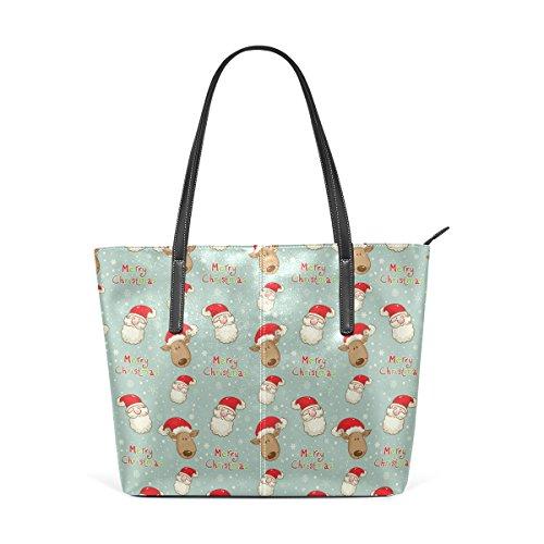 Santa e Clau in pelle donne a Christmas borse Borsa PU per e medio Bag modello borsa le muticolour COOSUN Tote tracolla cervi tPf5Bn4