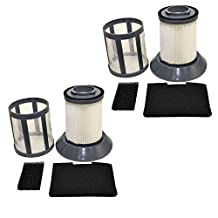 HQRP 2-pack Dirt Cup Filter Assembly for Bissell 6489 / 64892 / 6489C Zing Bagless Canister Vacuum Cleaner, 203-1772 / 203-1771 Replacement + HQRP Coaster