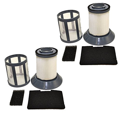 HQRP 2-pack Dirt Cup Filter Assembly for Bissell 6489 / 64892 / 6489C Zing...
