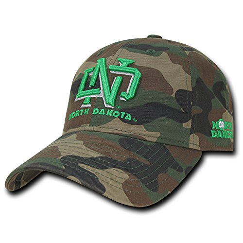 University of North Dakota UND Fighting Sioux Woodland Camo Camouflage Cotton Polo Style Baseball Ball Cap Hat