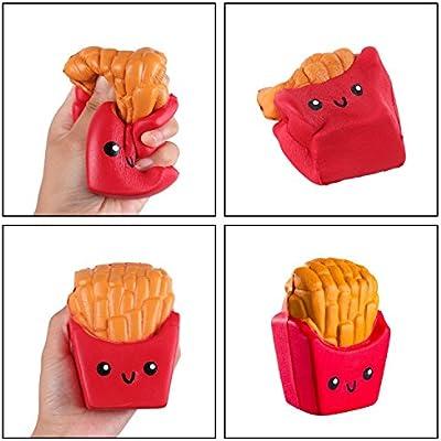 ZhengYue Squishy Kawaii Grandes Juguete Niños Squeeze Hamburguesa Patatas Fritas Squishy Slow Rising Pack Descompresión Juguetes Compresivos: Amazon.es: Juguetes y juegos