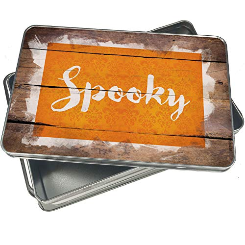 NEONBLOND Cookie Box Spooky Halloween Orange Wallpaper Christmas Metal Container]()