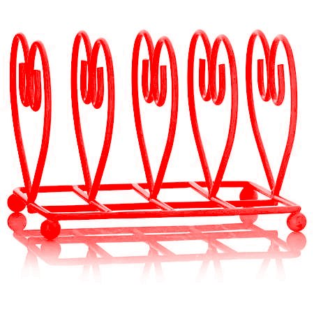 Deluxe Heart Shape Breakfast Table Toast Rack (14 x 11 x 11cm) (Red) Verdi