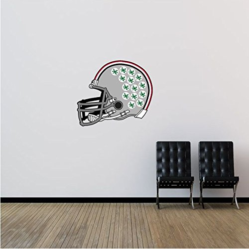 State Logo Wall - Ohio State Buckeyes NCAA USA Helmet Logo College Sport Art Wall Decor Sticker 25