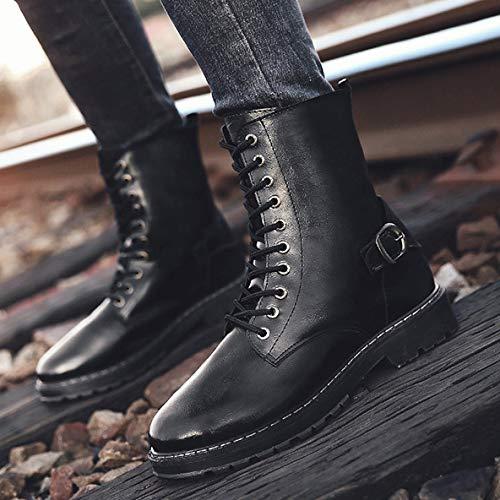 Shoes Uomini Outdoor Rise Up Lace Grey Black High Camping Brown Militare Esercito Desert Tattico Boots Boots Leather Escursionismo Combattimento Lavoro Sport Black aWwSaBxr8q