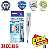 Hicks MT-101M Digital Thermometer with Beeper (White/Light Green)