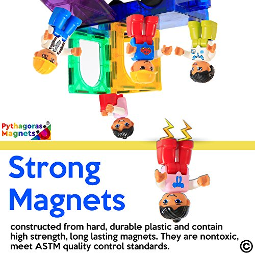 Pythagoras Magnets Entire Collection Includes 3 Magnetic Figure Sets, Car, Helicopter, Motorbike, Plane Sets. Let Your Kids Imaginations Have No Limits by Pythagoras Magnets (Image #3)