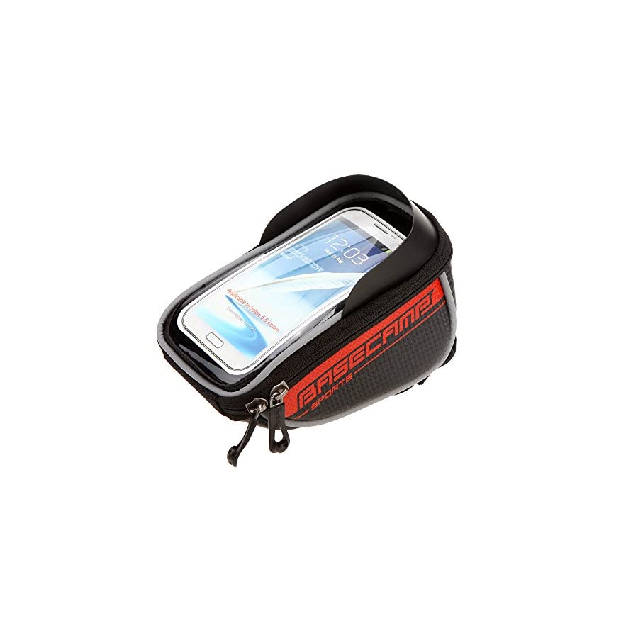 """BaseCamp Mountain Road MTB Bike Bicycle Front Top Frame Handlebar Bag Cycling Pouch Touchable for 5.5"""" Inch Cellphone"""