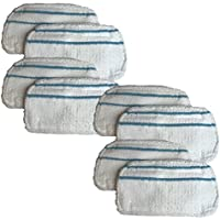 8 Replacements for Black & Decker Microfiber Mop Pads Fit SMP20 Steam Mops, Washable & Reusable, By Think Crucial