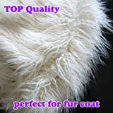 "3 inches pile Mongolian Curly Sheep Faux Fur Fabric Newborn Baby Photography Props Faux Wool Basket Stuffer Blanket Rug 60"" Wide Sold By The Yard (Ivory)"