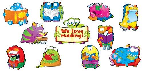Carson Dellosa Reading Monsters Bulletin Board Set (110139) Love Books Bulletin Board