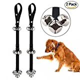 2 PACK Pet Dog Training Dog Doorbell Rope Housetraining and Communicate Alarm Door Bell for Dogs and Cats Adjustable