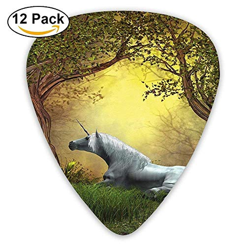 - Enchanted Forest Fantasy Magical Willow Trees Wildflowers Woodland Animal Folklore Guitar Picks 12/Pack
