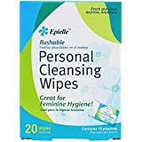 Epielle Personal Cleansing Wipes, 20 Count (1 Pack)