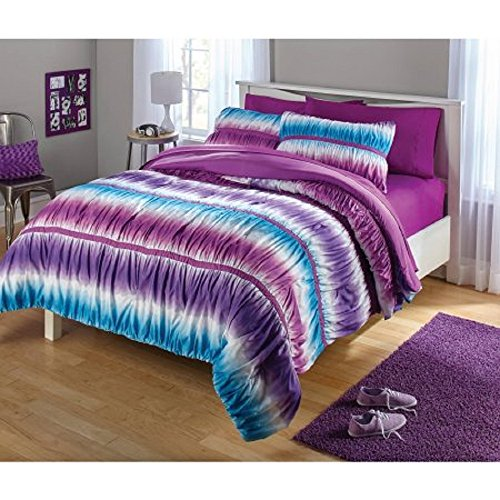 Your Zone Ruched Purple Comforter product image