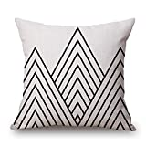 Uloveme Throw Pillow Case Of Geometric 18 X 18 Inches / 45 By 45 Cm,best Fit For Boy Friend,kids Boys,saloon,club,boys,monther Twice Sides