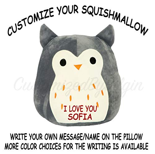 Squishmallow Customized Original Kellytoy Hoot The Grey Owl 8