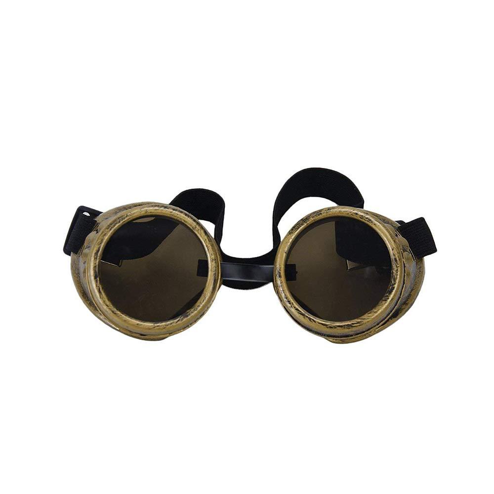 Aofocy Foto Brille Cyber ??Goggles Steam Punk Gossen Messing Farbe
