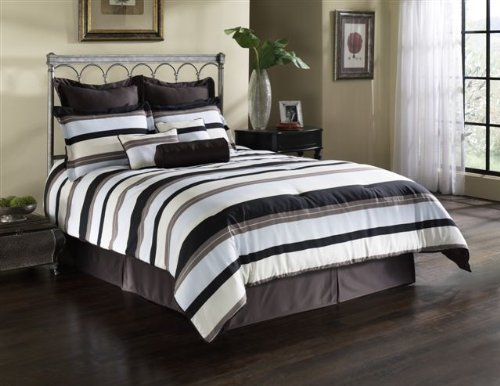 Fashion Bed Group 82EQ712PLC Paramount Palace 11-Piece Comforter and Stuffed Euro Pillow Bed Ensemble Super Pack, (Super Pack Comforter Ensemble)