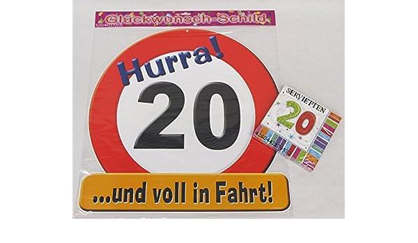 20 años de veinte de decoración-juego de cumpleaños, feliz ...