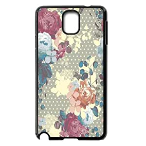 {FLORAL PATTERN Series} Samsung Galaxy Note 3 Cases 17daa7024dcacd8c8dc5cb16881a0d8e, Case Vety - Black