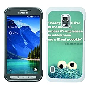 Cookies Monster White Personalized Photo Custom Samsung Galaxy S5 Active Cover Case