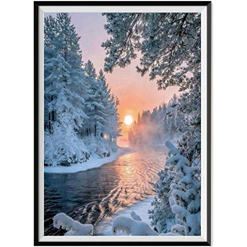 DIY 5D Diamond Painting,Dartphew Melting Rivers of Snow Fore
