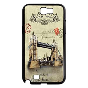 Good Quality Phone Case Designed With Travel Cards For Samsung Galaxy Note 2 N7100