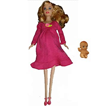 Generic Educational Real Pregnant Doll Suits Mom Doll Have A Baby In Her Tummy