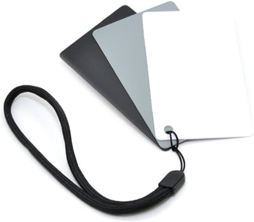 JJC GC-2 tasca di piccole dimensioni 3 in 1 schede grigie Bilanciamento del Bianco-Bianco//Nero//Grigio