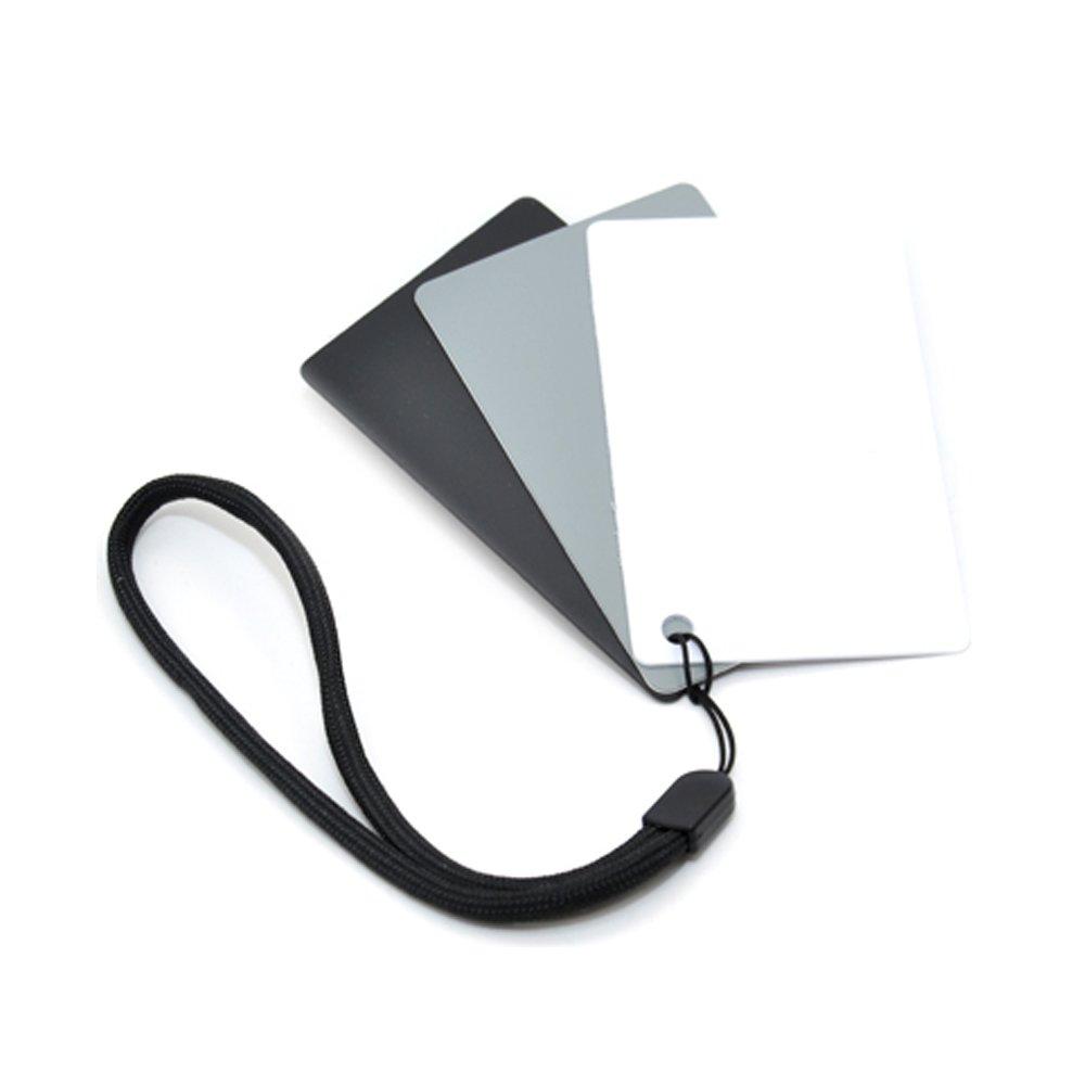 JJC Cartoncino 18% grigio neutro, 3 in 1, per il bilanciamento digitale del bianco, con passante GC-2