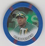 2014 Topps Poker Chipz Blue Yoenis Cespedes Oakland Athletics