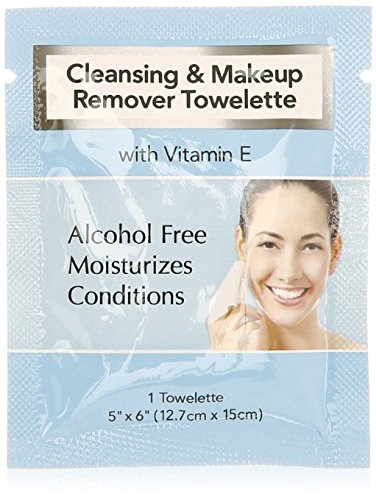 Cleansing and Makeup Remover Wipes with Vitamin E, 25 Pack (in Organza Bag) ()