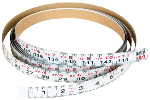 (Biesemeyer 79-065 12 foot Right 3/4-Inch English Adhesive-Backed Measuring Tape)