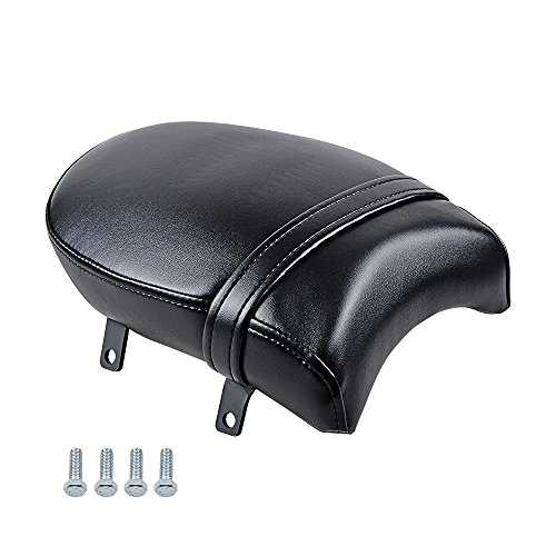 Astra Depot Motorcycle Black Synthetic Leather Rear Passenger Pillion Pad Seat Kit Compatible with Victory Vegas Kingpin