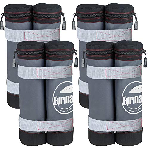 Eurmax New Weight Bags for Ez Pop up Canopy Instant Canopies Shelter, Sand Bags, Set of 4 (Club Sam Furniture Patio)