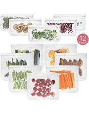 Herbruikbare Sandwichzakken Opbergzakken Voor Voedsel Snack Lunchzakken, PaisDola FDA Food Grade BPA-vrij Eco-vriendelijk Lekvrije Opbergtas Met Ritssluiting
