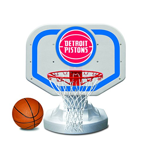 Poolmaster 72908 Detroit Pistons NBA USA Competition-Style Poolside Basketball Game