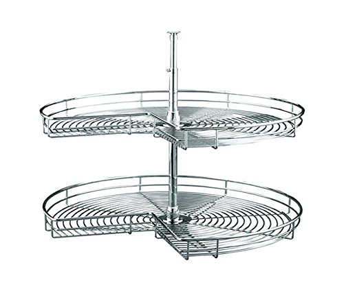 Kidney Shaped Lazy Susan Chrome (28