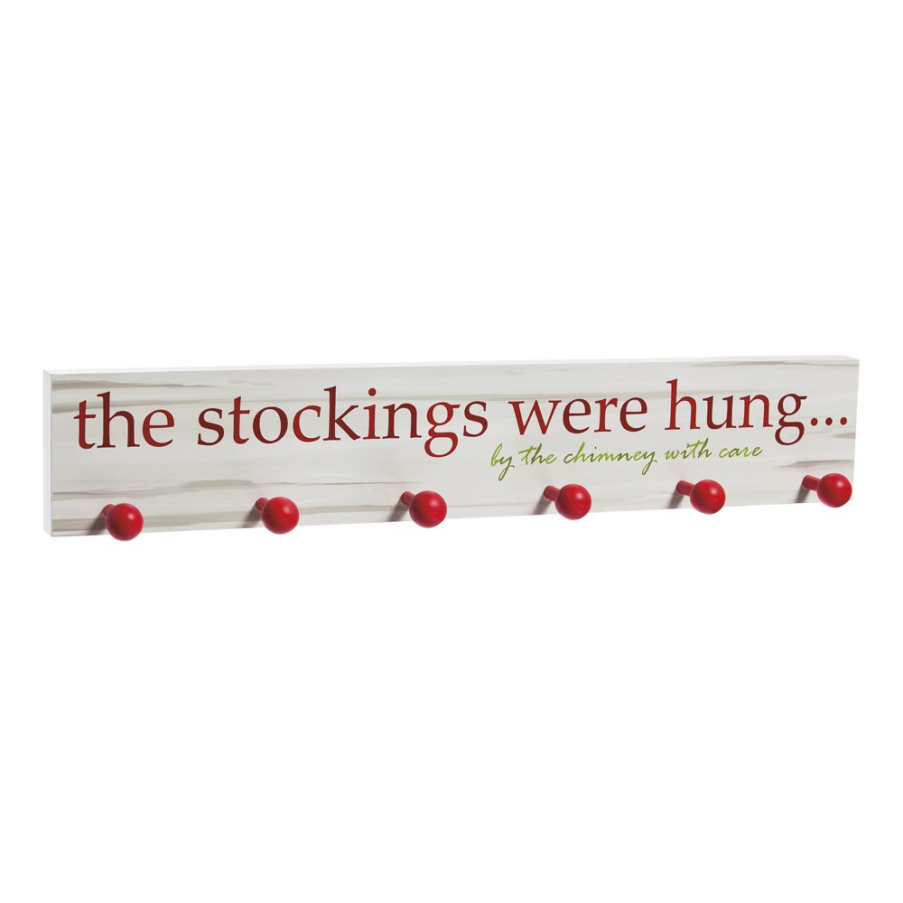 Cypress Home Wooden The Stockings Were Hung Mantel Sign